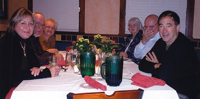 Carol (Hill) and Andrew Muller (foreground both sides), at Harold and Esther (Hill) Derr's 60th anniversary.