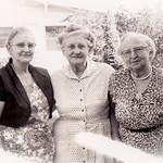 Three sisters: Mabel (Struasser) Hinnershitz, Sally Hoffa, Gertrude Hill.