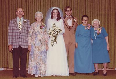R. Paul & Elda (Adam) Grim, Linda (Krick) & Dean L. Grim, Melva (Brobst) Hill, Gertrude (Strausser) Hill.