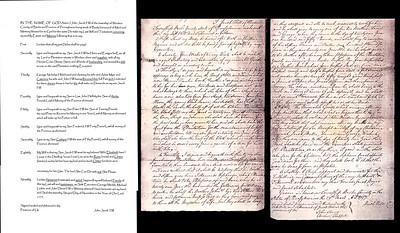 The will of John Jacob Hill, the Homesteader of the Hill farm in Windsor (now Perry) Twp., Berks Co., PA.