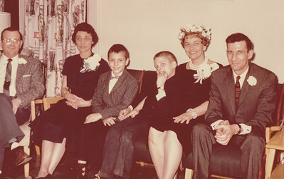 Melly, Ruth and Bruce Fisher, Dave, Ann and Harry Huber, 1961.