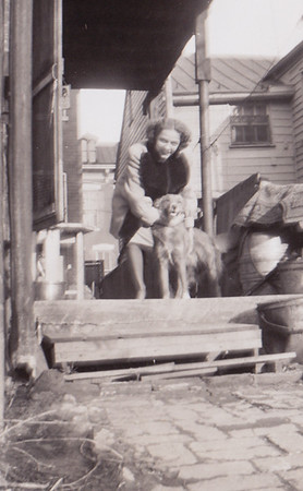 Anna Huber and Butch, 226 Carpenter St., March 14, 1948.