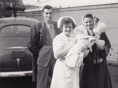Harry and Ann (Humma) Huber bringing home David from the hospital