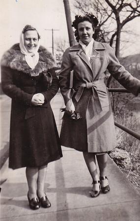 Irene Schmidt and Miriam Hosler, 1940.