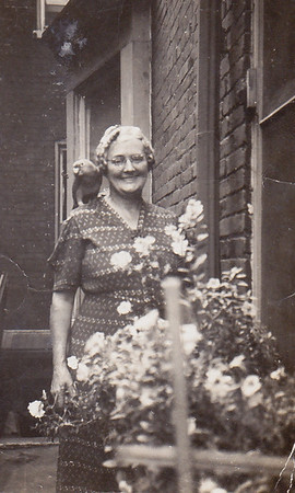 Our neighbor, Martha Zimmerman, at 525 Locust St., Reading, PA. (Sept 1941).