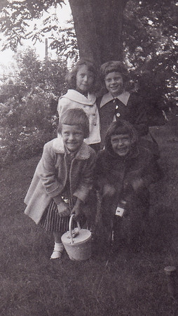 Cathy Zezenski, Gayle Redcay, Cathy Humma, Becky Mast, late summer of 1968.
