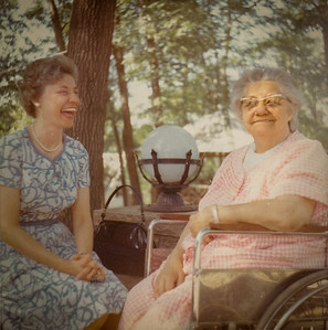 Verna (Humma) Johnston with her mother Stella (Wien) Humma.