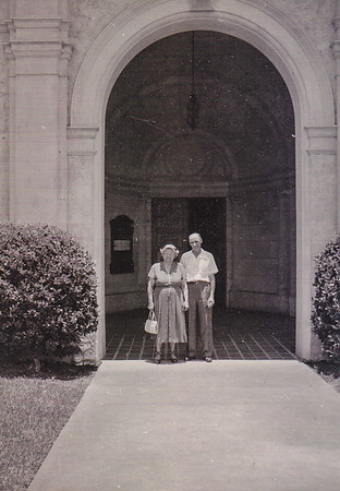 Henry and Stella (Wien) Humma, in Miami FL, where they stood for Mack McCarraher's wedding.