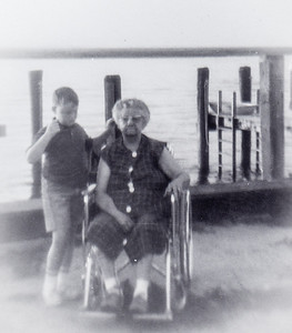 Jeb with Stella (Wien) Humma, c. 1965, at Stone Harbor, NJ. Every year the Hummas went rented a house with a dock.