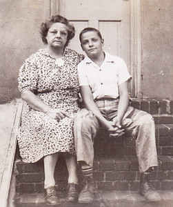 Stella (Wien) Humma with her youngest son Ronald. 226 Carpenter St., Reading, PA, Summer 1945.