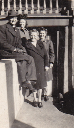 Walter Johnston, his wife Verna (Humma) Johnston, Verna's mother Stella (Wien) Humma and Verna's sister Ann (Humma) Huber. Location: 423 Locust St., Reading, PA.