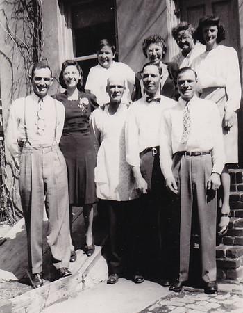 (back) Walter and Verna Johnston, Ronald Humma, Dorothy 'Dot' (Ruth) Humma, Stella (Wien) Humma, and Floy (Duvall) Humma. front: Henry K., Robert Joseph and Raymond Humma