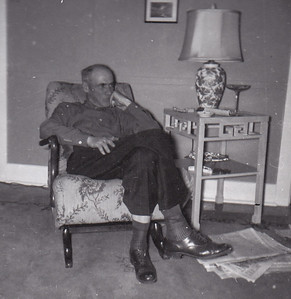 Henry Humma in a concentrating mood, Nov. 1954.