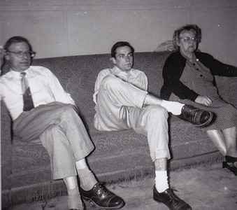 Raymond and Ronald Humma with their mother 'Stella' (Wein) Humma, Nov 1954.