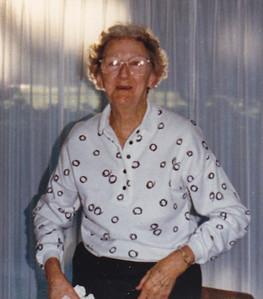 Floy (DuVall) Humma (wife of Raymond Humma), 1980.