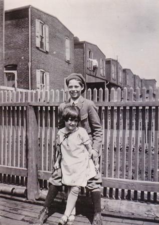 Robert Joseph Humma with cousin Eleanor Vollmer. circa 1920.