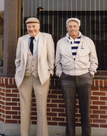 Robert & Warren 'Mike' Humma. Oct. 1995, at a restaurant in Shillington, PA.