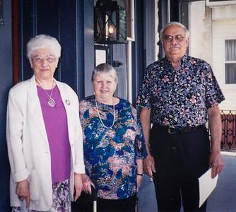 Verna (Humma) Johnston, Marian (Werner) and Ronald Humma at Stouch's Tavern, Womelsdorf, PA, June 24, 1998.