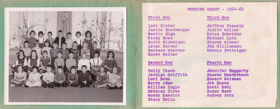 Does anyone know the teacher's name in this class?  Gouglersville, PA, kindergarten, class of 1964 - 1965. 1st Row: Lori Zieber, Janine Hornberger, Martin High, Ricky Boas, Scott Hirneisen, Levan 'Rusty' Hoover, Barbara Woerner, Karen Reiter. 2nd Row: Polly Ibach, Jeralyn Griffith, Lori Behm, Barry Adam, William Ingle, Deborah Slote, Wanda Emerich, Stacy Dolla. 3rd Row: Jeffrey Shanely, Judith Weller, Erica Sobottka, Michael Lutz, Sharon Witmer, Joy Williamson, Dennis Potteiger. 4th Row: Jennifer Haggerty, Sharon Manderbach, Howard Weisman, Jeb Humma, Scott Kohl, Susan Murk, Audrey Artz.