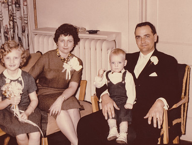 Ronald and Marian (Werner) Humma with children Cathy and Jeb, 1961.
