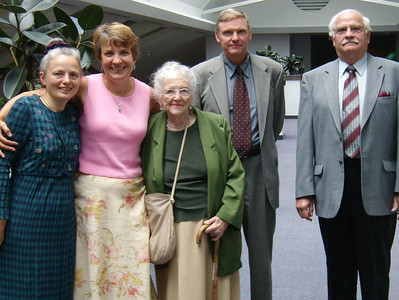 Beth Humma, Cheryl Lynam (tour guide), Mildred Strouse, Jeb Humma and Ronald Humma. June 2007 while touring Patterson Bethel, NY.