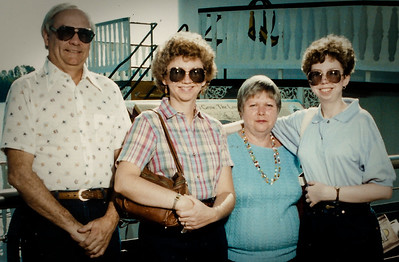 Ronald, Cathy, Marian (Werner) and Lisa Humma, on vacation.