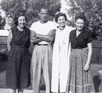 Gayle Humma, Warren 'Mike' Humma, Verna (Humma) Johnston, and Helen Rayden (Gayle's sister).