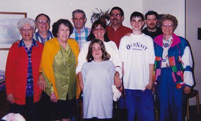 Verna Johnston, Gary Humma, Gail Humma, Harry Huber, Kirsten Twitchell, Karen Twitchell, David Twitchell, Humma, Humma, Ann Huber, April 1998.