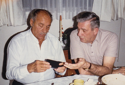 Warren 'Mike' Humma and Harry Huber, 1986.