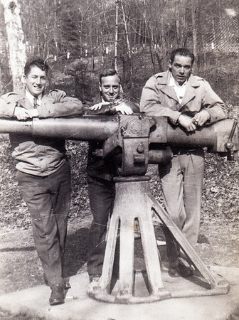 Donald McCarruisher (Sp?), Pete Sanders and 'Mike' Humma, Feb 1947.