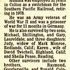 Warren H. Humma 'Mike', died Jan 15, 1998 in Colton CA.