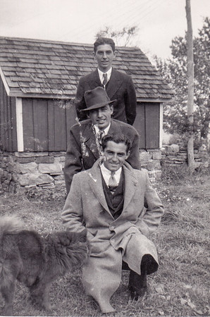 John, Walter & Joe Johnston (front to back). Joe died in Aug 1942 after the St. Louis Missouri convention.