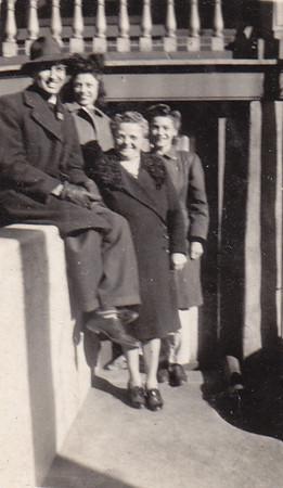 Walter Johnston, his wife Verna (Humma) Johnston, Verna's mother Stella (Wien) Humma and Verna's sister Ann (Humma) Huber. Location: 423 Locust St., Reading, PA.