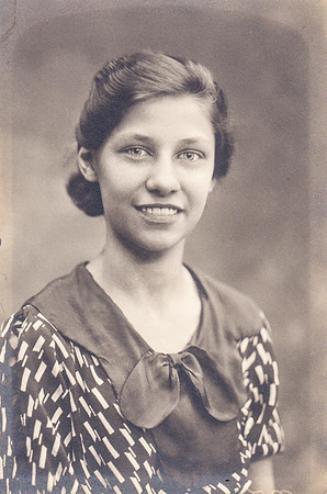 Verna Humma (later Johnston), graduation, 1936.
