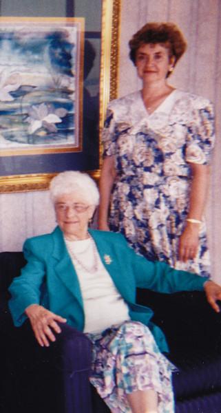 Verna (Humma) Johnston with Eunice (Johnston) Harman