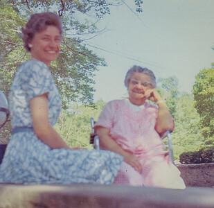 Verna (Humma) Johnston with her mother Stella (Wien) Humma.