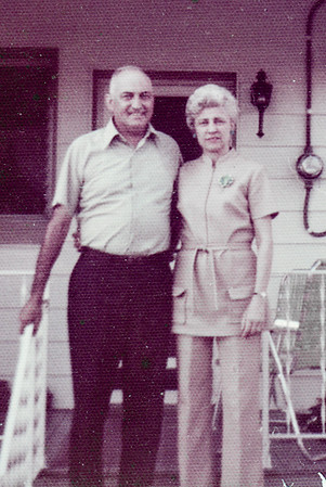 Walther & Verna Johnston at Ann & Harry Huber's home, 304 W. Douglas St. Reading PA.