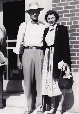 Walter Johnston with his wife Verna, 1950.