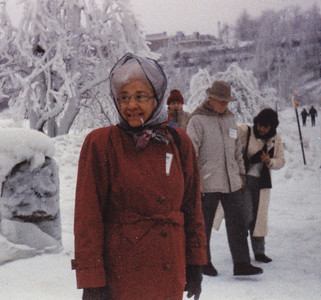 Verna Johnston at Niagra Falls, NY, Feb. 12-14, 1993.