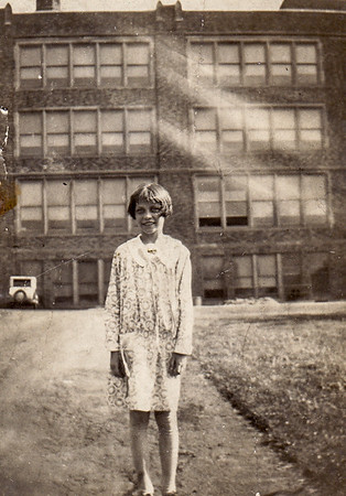 Verna Humma (later Johnston), at her school.