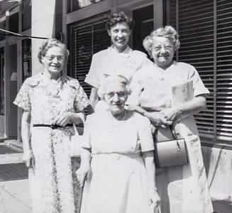 Verna's aunt Katie Strouse, Alice Howe, Stella Humma and Verna Johnston, June 1954 in Richmond, VA.