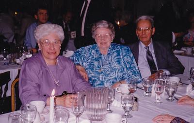 Verna (Humma) Johnston with Hilda and Roy Brossman.