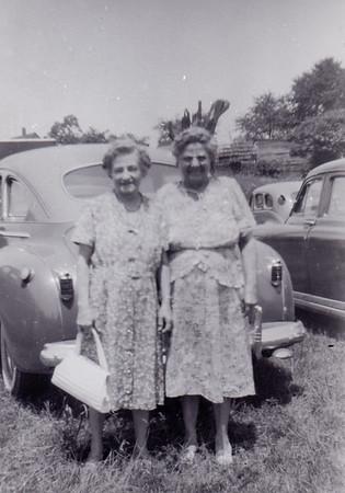 Katie (Wien) Strouse and Stella (Wien) Humma. Springfield, MA, July 1-4, 1949.