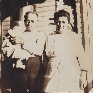 Gideon R. Wein  & Louise (Louisa Hoffa Hafer), (Katie and Stella's parents), holding unidentified child.