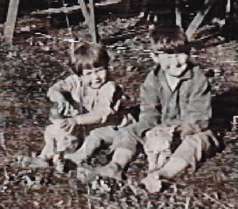 Vera (Naftzinger) Schrack with brother Carl Naftzinger, 1920
