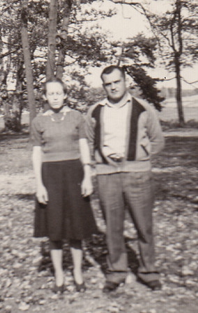 Carl Naftzinger and wife Margaret (?) in the poconos.