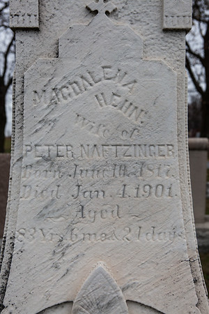 Magdalena Henn, 1817 - 1901.  (In St. Michael's cemetery).