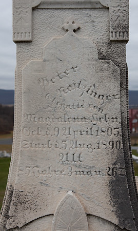 Peter Naftzinger 1805 - 1890.  (In St. Michael's cemetery).
