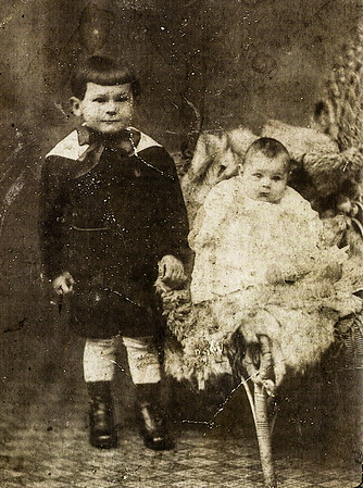 Carl Naftzinger with his sister Grace(?)