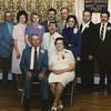 Wayne & Vera Schrack (front row) at their 50th anniversary party. Middle: Norman, Anna (Reinhart). Back row: John, Betty (Haag), Marie (Hill), Elmer, Wayne (Jr), Daniel, Michael.